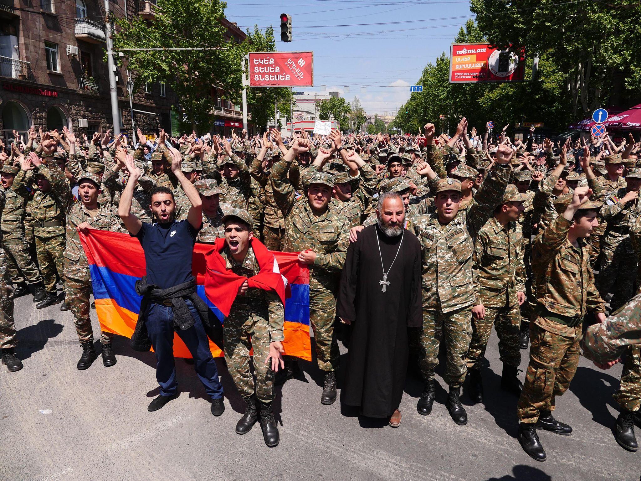 Yerevan Armenia protests April 2018