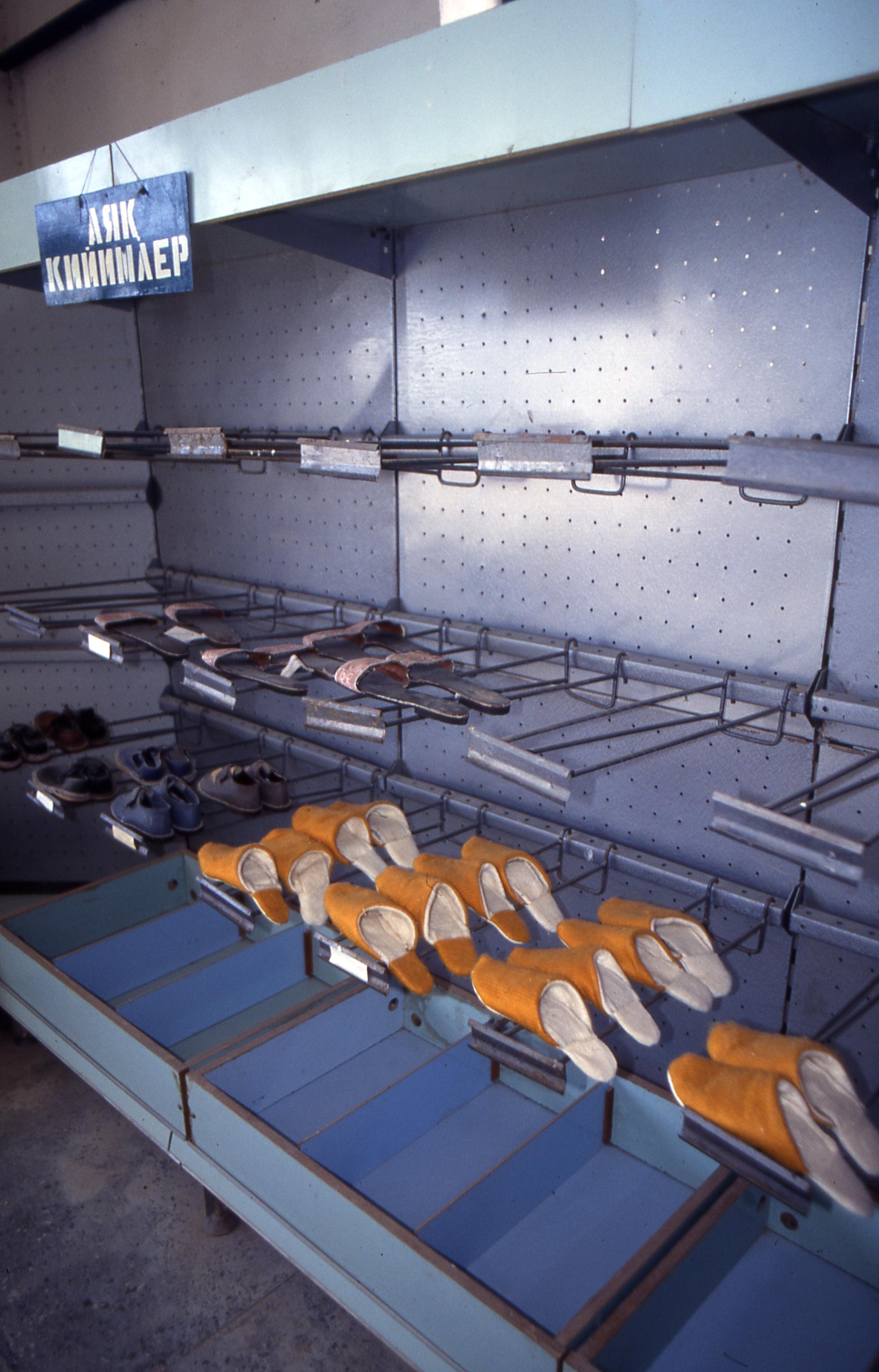 Shops outside the capital in Karakalpak were largely empty