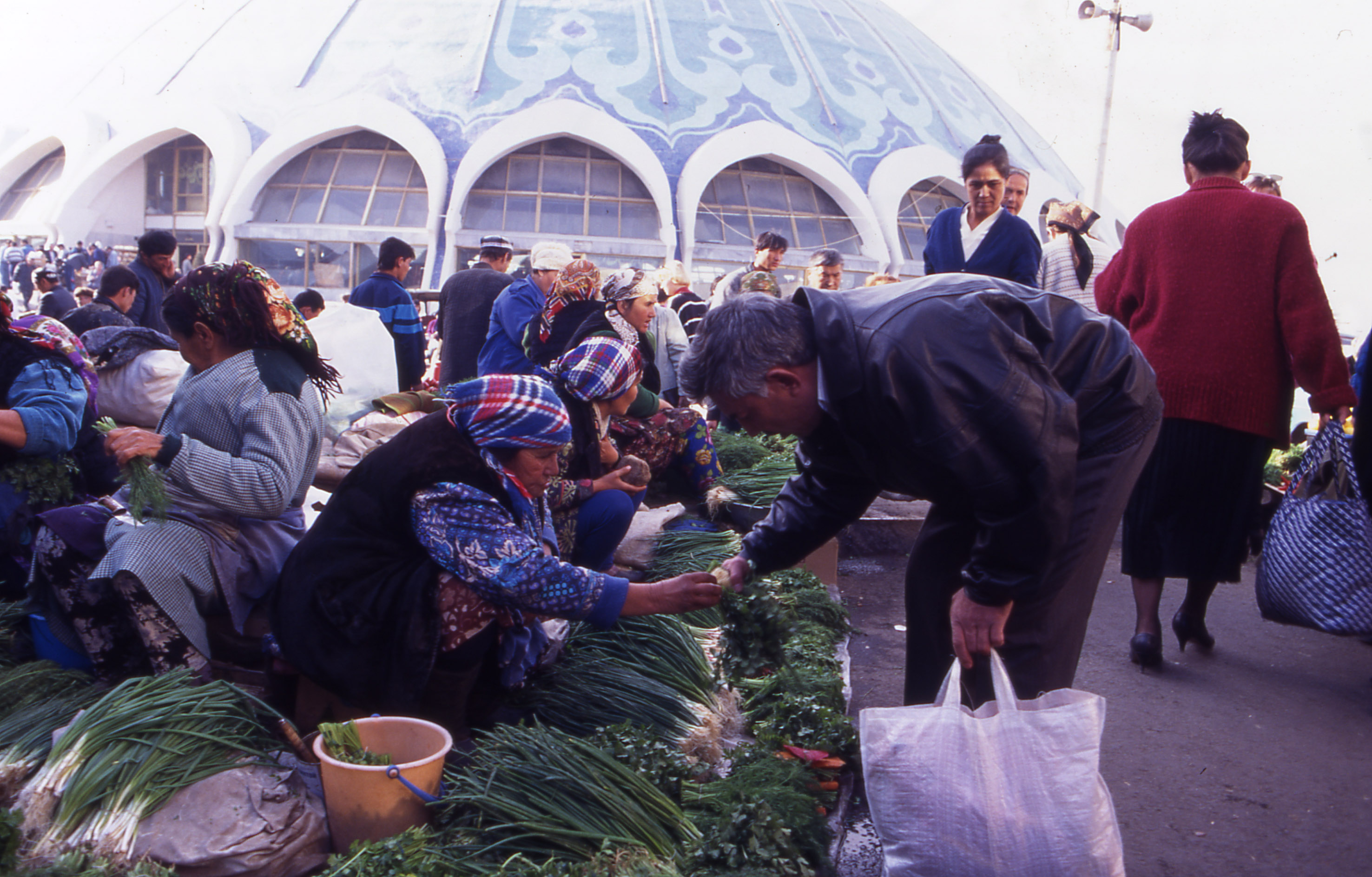 The Chorsu Bazaar in central Tashkent